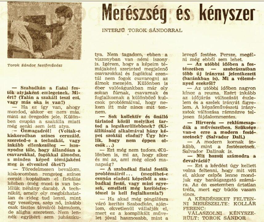 JELEN 1970 - Kollár Ferenc: Torok Sándor