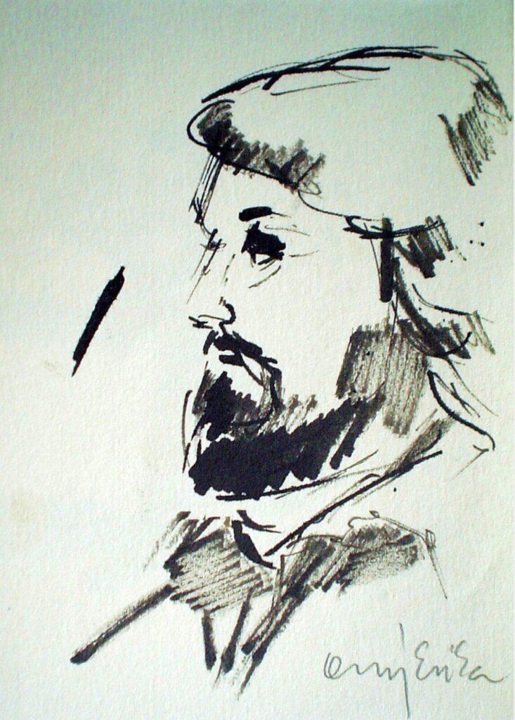 Orgovány Erika: Torok Sándor- tollrajz, 1985