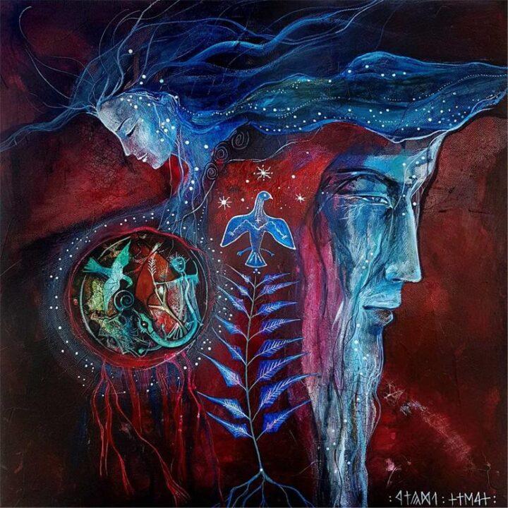 A Teremtés mítosza – 60x60 akril, vászon