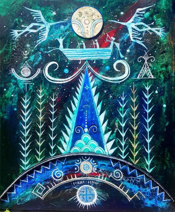 A lelkek útja - 50x60 akril, vászon