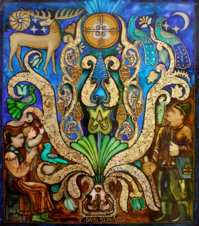 Isteni üzenet - 50x60 üvegfestmény
