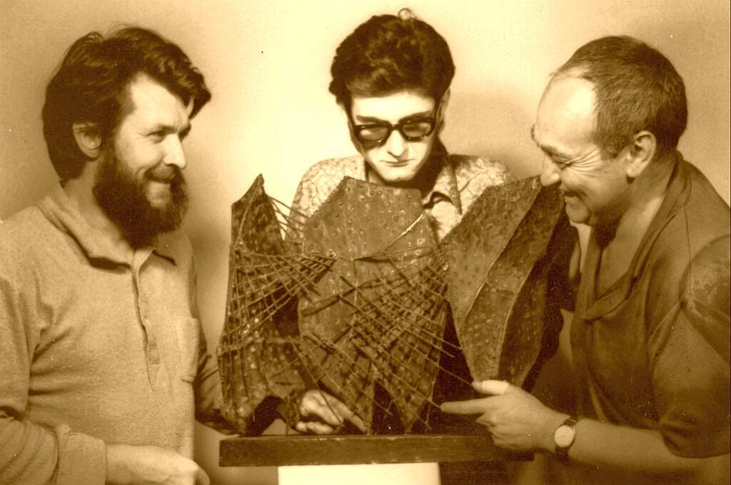 A Honi Galéria csapata Torok Sándor Kollár Ferenc és Duránci Béla 1971 sbc 1024x680 1