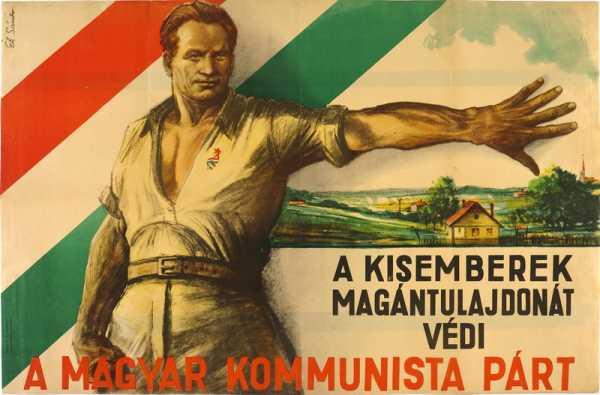 nosztalgia poszterek plakatok magyar kommunista part a kisemberek magantulajdonat vedi politikai plakat 2477 1