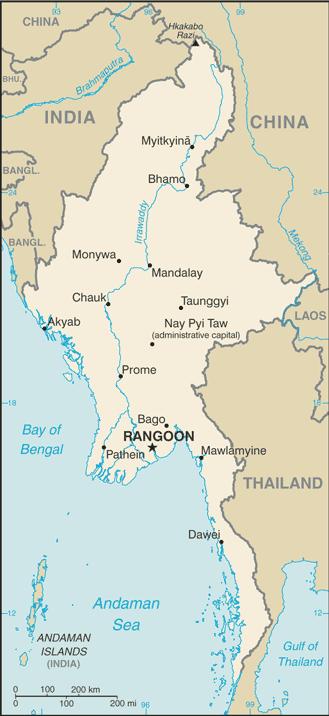 Burma CIA WFB Map