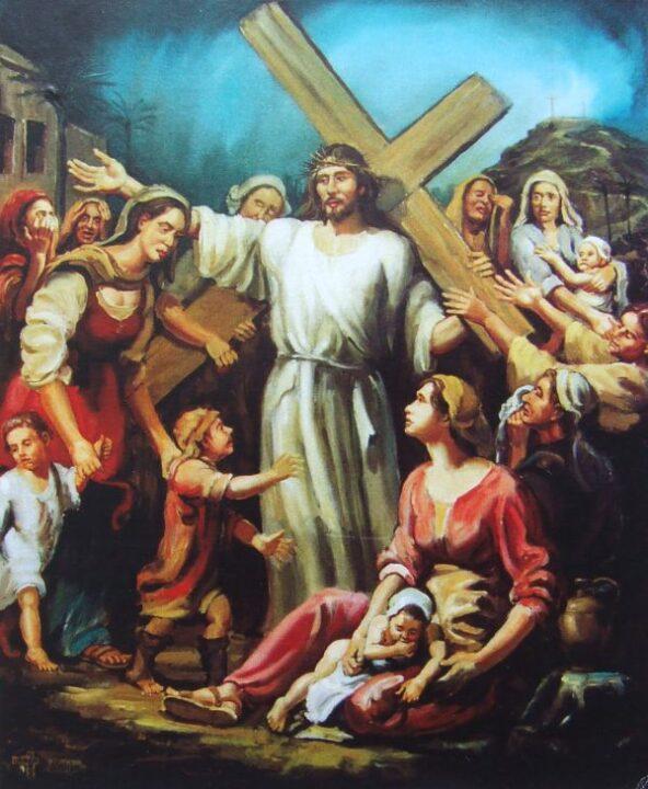 Jézus szól a jeruzsálemi nőkhöz