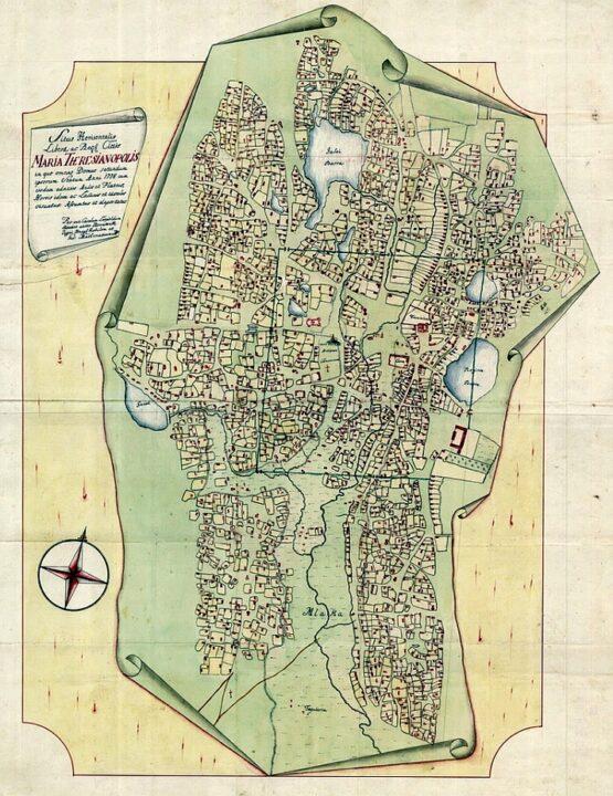 szabadka első térképe
