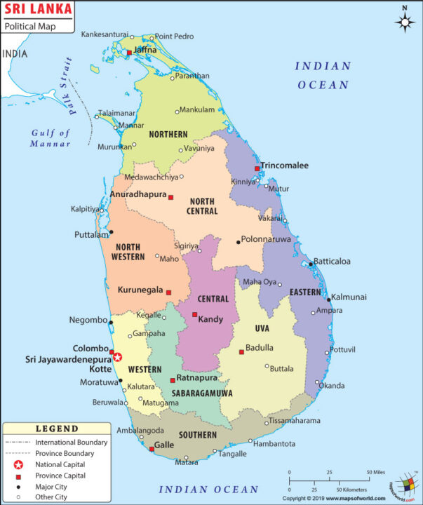 05 sri lanka political map
