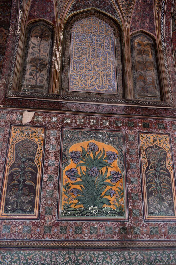 Íriszek a Wazir Khan mecsetben