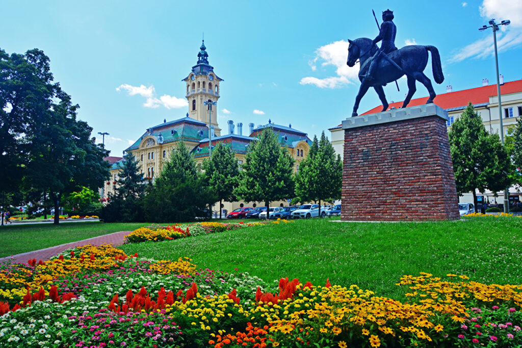 Hungary Houses Monuments Szeged Lawn Trees 522069 1280x853
