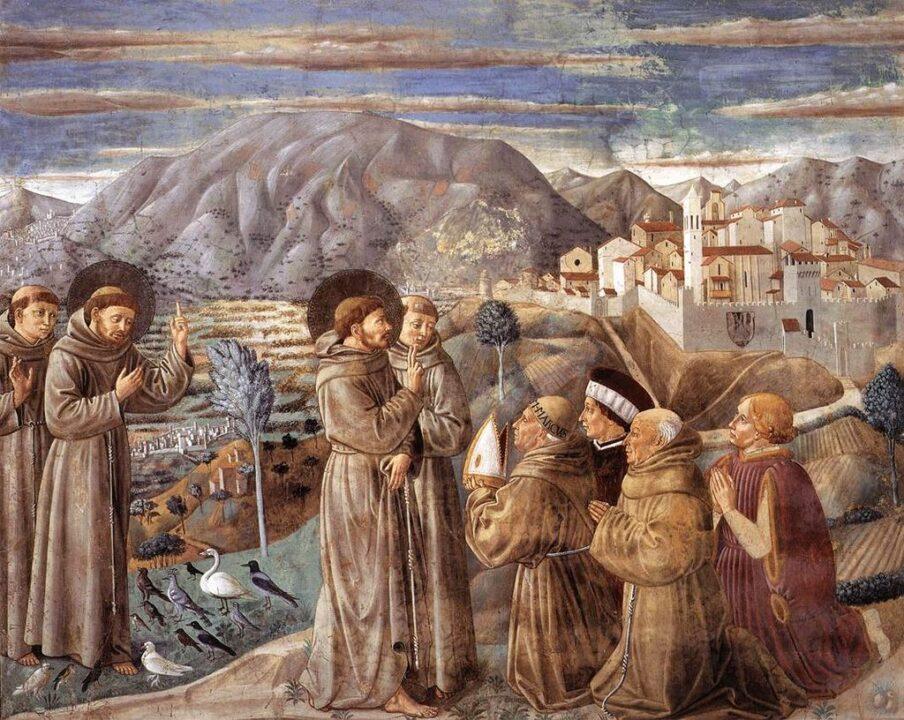 07scenes of St Francis life Benozzo Gozzoli