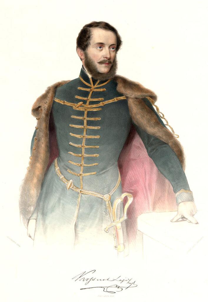 Kossuth Lajos színezett litográfia 1848 Prinzhofer