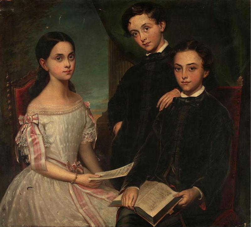 Kossuth gyermekei 1850