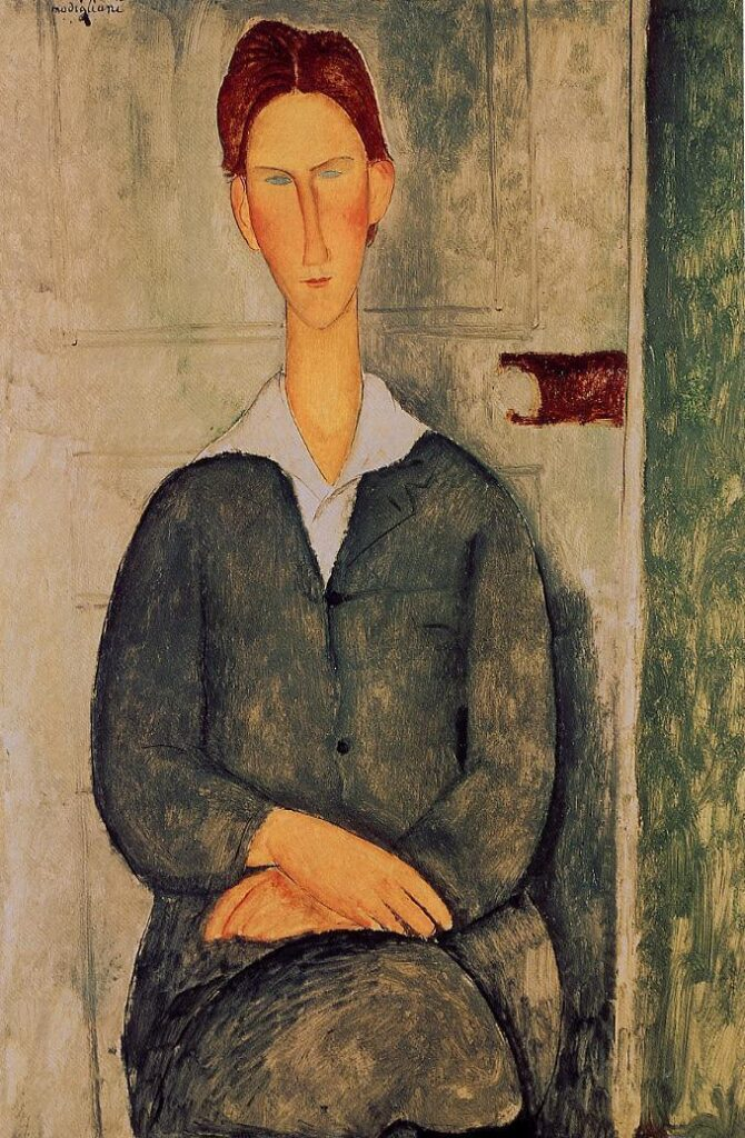 Modigliani Voros haju fiatalember 1