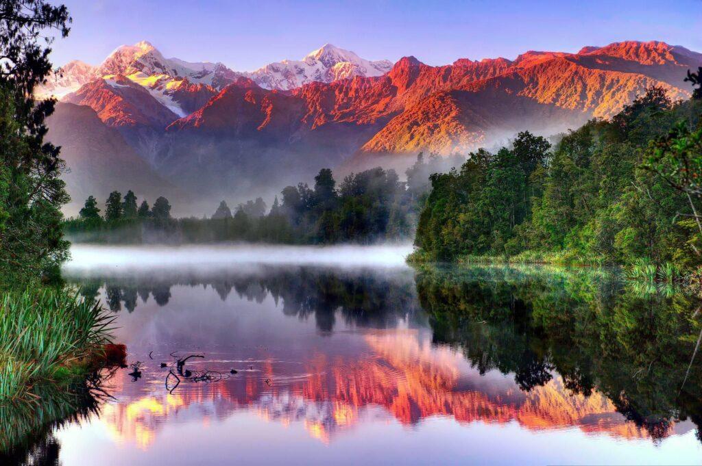 NZ colorful cliffs
