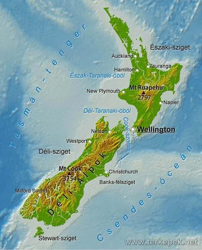 Uj Zeland map