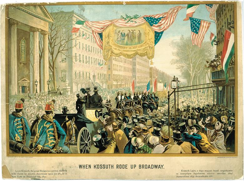 When Kossuth rode up Broadway