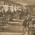 1960 – a szabadkai cipőgyár szabászata.