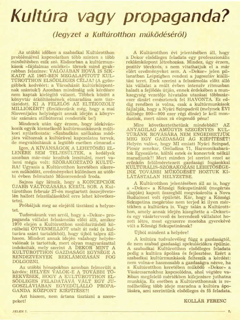 1971. Jelen 6