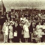1980 – a szabadkai cipőgyár aktivistái (balról a felső sor elején Kollár Ferenc)
