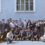 1980 – a szabadkai cipőgyár biztonsági csoportja (A hátsó sor közepén, kopaszon, Karanyac Branko, vezérigazgató)0