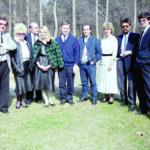 1990 – a TREND köülkereskedelmi csapata: jobb szélen Kollár Ferenc, balszélen Kónen Péter