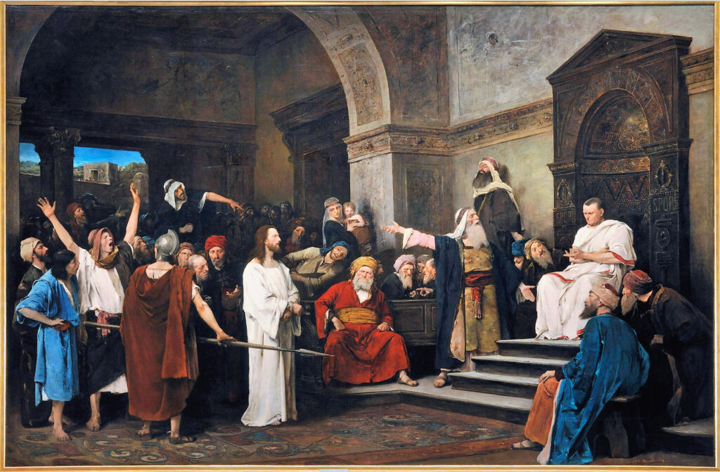 Munkacsy Christ in front of Pilate