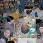 1989 – Ebéd a TREND egyik műhelyében.