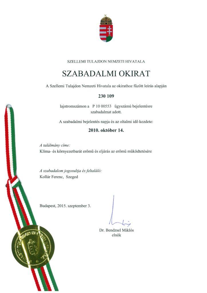 SZABADALOM 1