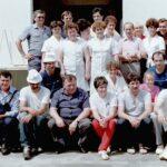 1987 – a híres Chemos étterem csapata (hátsó sor balról: Tonkovic Veco igazgató).