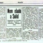 Reakció Kollár Ferenc televiziós nyilatkozatára – 1990.