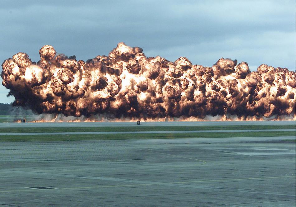 Simulated Napalm Airstrike