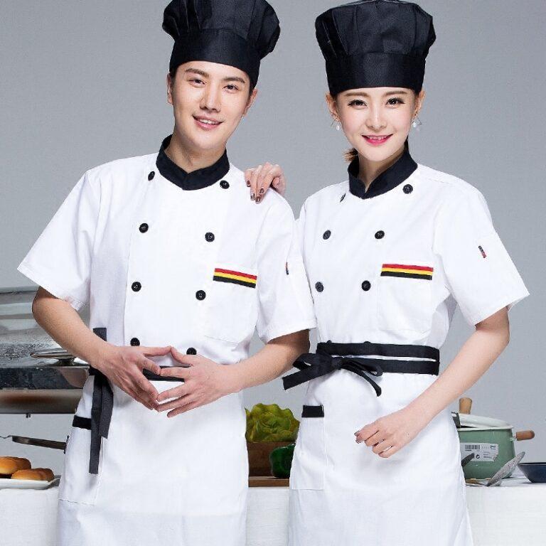 85773 szakacs viselnek roevid ujju egyenruhat hotel torta suetemeny konyha fel ujja overall kinai szakacs munkaruha polo j149