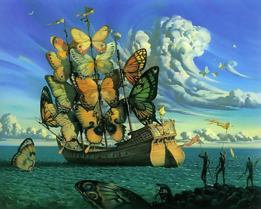cultura vladimir klush ship with butterfly sails 2000